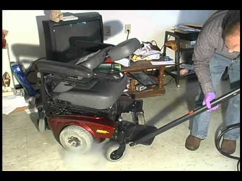 Remove Bed Bugs from a Wheelchair Using Steam Video Screenshot