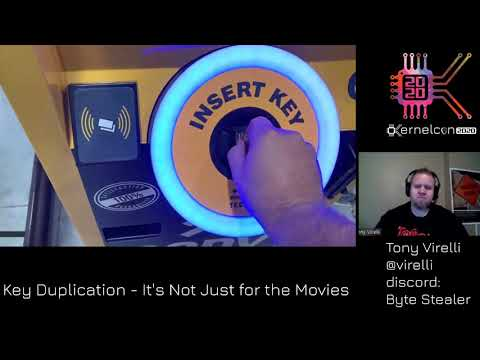 Kernelcon 2020 - Key Duplication It's Not Just for the Movies! - Tony Virelli