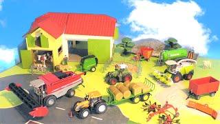Trecker, Mähdrescher & Traktor - Bauernhof Fahrzeuge - Bauernhof - Farm Vehicles for Kids