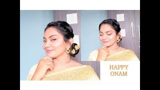 GET READY WITH ME FOR  ONAM 2019 || TRADITIONAL makeup look || Glow Gossip