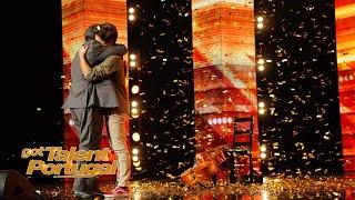 Gonçalo Pires recebe o botão dourado do Manuel Moura dos Santos | Got Talent Portugal 2020