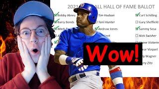 2021 Hall of Fame Ballot, a breakdown
