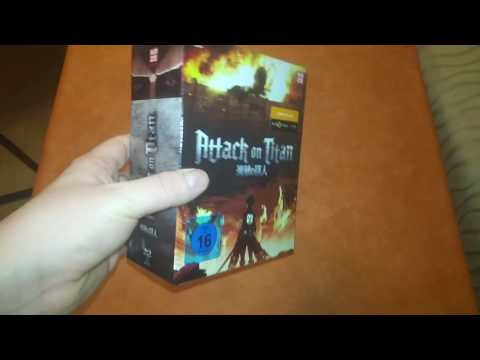 Unboxing Attack on Titan Volume 1 limited Edition mit Sammelschuber [ deutsch - german ]