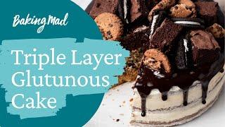 Cookie, Oreo & Brownie Layered Cake Video