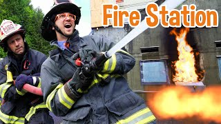 Blippi Visits A Firetruck Station! | Learn About REAL Firefighters For Kids | Blippi Videos