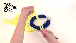 Fringing with a crochet hook
