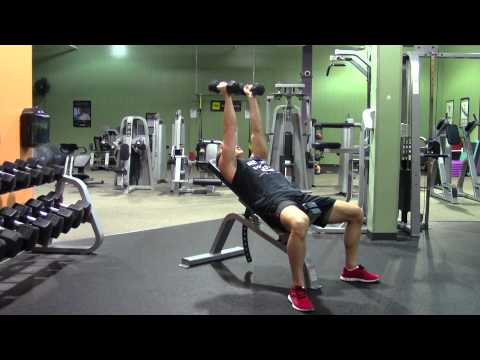Dumbbell Incline Triceps Extension