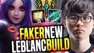 Faker Destroying Korea SoloQ With His Main Leblanc testing the New Korean Burst Build | SKT Replays