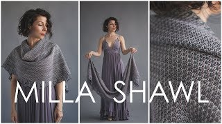 Milla Shawl - How To Knit This Beginner Mosaic Wrap Pattern (cool Optical Illusion!)