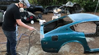 IS THAT ALL RUST!? - Sandblasting The 240Z Body
