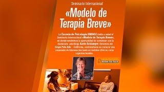 """Seminario internacional: """"Modelo de Terapia Breve""""  #Psicología #UNIACC"""