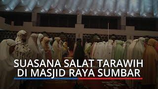 Gubernur Mahyeldi Salat Tarawih Perdana di Masjid Raya Sumbar, Minta Jemaah Patuhi Prokes