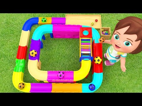 Color Balls Xylophone Slider Toy Set 3D | Learn Colors for Children with Little Baby Girl Kids Toys