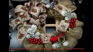 Crafting With Edith Christmas Burlap Mesh Wreath