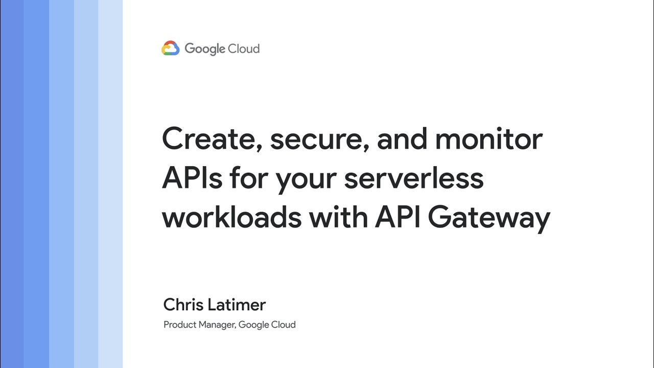 Learn how with Google Cloud's API Gateway, developers can implement key security and administrative features that are needed to manage the requests that their APIs handle.