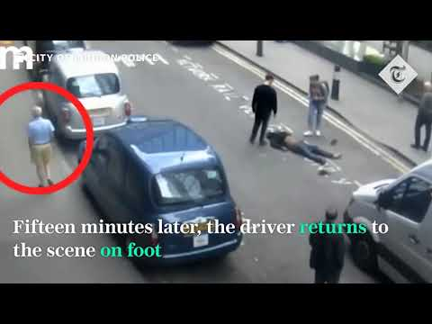 Taxi driver leaves unconscious man on road
