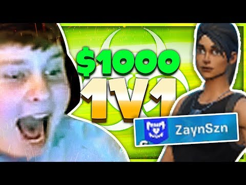$1,000 WAGER vs. The MOST Toxic Player (Fortnite Box Fights) (видео)