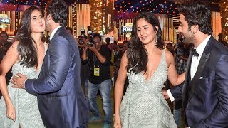 Omg ! Ranbir Kapoor hugs ex gf Katrina Kaif in front of Alia Bhatt at Award Function