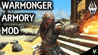 WARMONGER ARMORY: Insane Armor/Weapon Mod- Xbox Modded Skyrim Mod Showcase