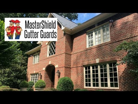 This homeowner in Great Falls, VA already had Gutter Helmet installed, but wanted to upgrade to MasterShield. We took down the old gutter guards, and installed MasterShield panels on the gutters.