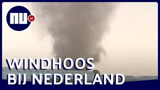 Grote windhoos waargenomen vlak bij Nederlandse grens | NU.nl
