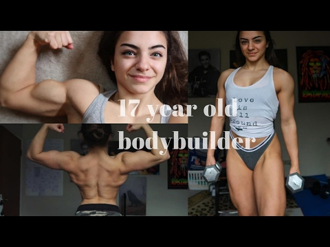 , title : '17 Years Old Female Bodybuilder - Amazing Strength'