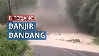 Video Detik-detik Banjir Bandang seusai Kabupaten Aceh Diguyur Hujan Deras