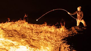 Roasting Marshmallows Over the Door to Hell - Darvaza Gas Crater, Turkmenistan