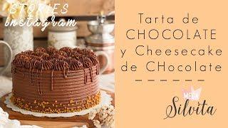 Tarta de Chocolate y Cheesecake de Chocolate - Receta Stories Megasilvita