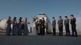 Outdoor Wedding Ceremony at Aviation Museum, San Carlos