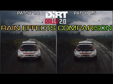 DiRT Rally 2.0 - Rain Effects Comparison - Before and After Patch 1.5