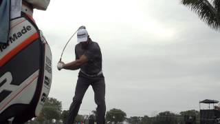 GOLF SWING 2013 - RETIEF GOOSEN DRIVER - FACE ON & SLOW MOTION - 1080p HD