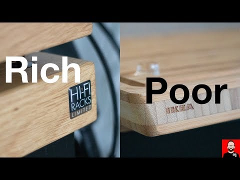 Room tour: hi-fi display furniture for rich and poor