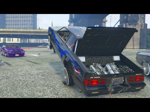 GTA 5 LowRider Meet Online Funny Moments W/Crew Cruise/Meet/Hops | SLAPTrain