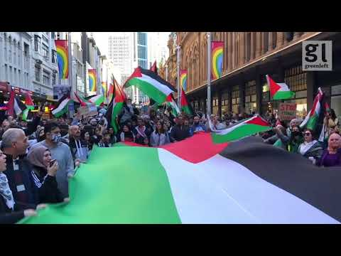 Thousands march in Sydney in solidarity with the Palestinian people