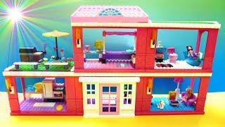 Lego Lắp Ghép Nhà Búp Bê Barbie  Mega Blocks Barbie's House(Bí Đỏ)