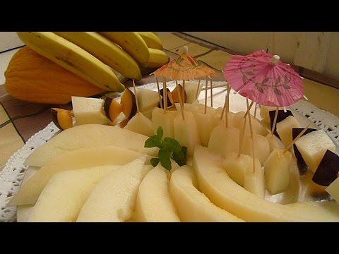 как подать арбуз и дыню на стол фото