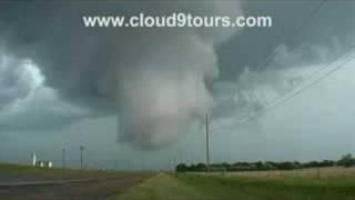 Wall Cloud & Tornado- La Crosse, KS May 25th, 2008