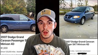 """FLIPPING CARS FOR CASH EP. 10 ($1500 PROFIT) """"THIS VAN WAS A BLASSING"""""""