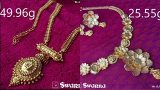 Latest Traditional Gold Necklaces With Weight