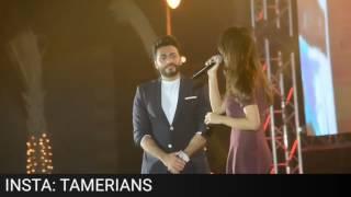 تامر حسني يقدم موهبه في حفل عودة ليالي اضواء المدينه!