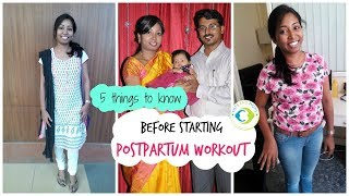 Postpartum Workout - 5 Things to know before you start