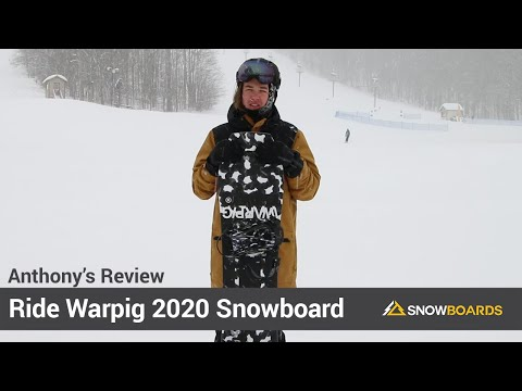 Video: Ride Warpig Snowboard 2020 2 40