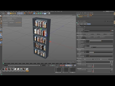 Cinema 4D Tutorial – How to Create a Bookcase Using Book Generator