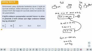 Eğitim Vadisi AYT Fizik 5.Föy İtme ve Çizgisel Momentum 2 Konu Anlatım Videoları