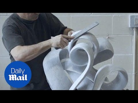 Sculpting Out of 1200 Pounds of Marble!