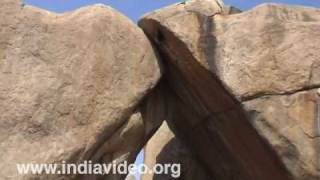 Sister Rocks and the surrounding rocks at Hampi