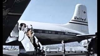 United Douglas DC-6 Promo Film - 1950