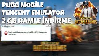 PUBG MOBILE EMULATOR 2 GB RAM İLE İNDİRME !! 2019 !!