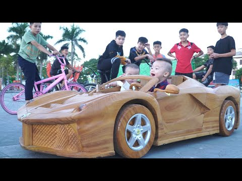 wooden 3d car ferrari aperta by hoa ky